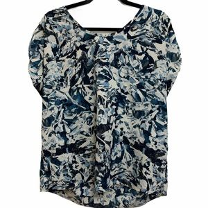 Pure Energy Blue Printed Blouse